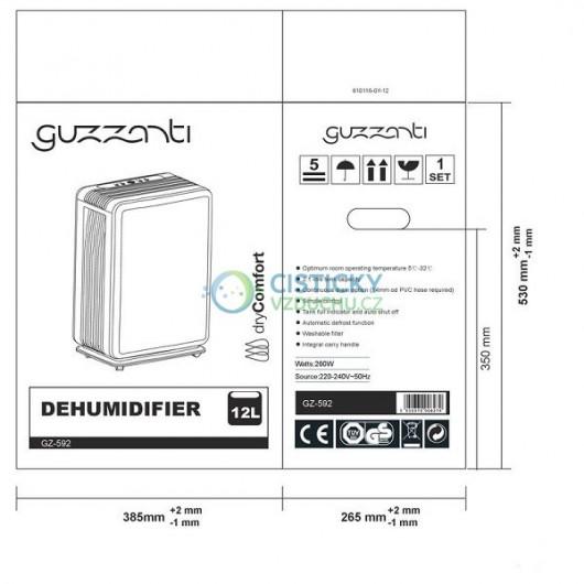 Odvlhčovač vzduchu Guzzanti 592