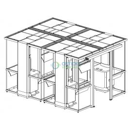 Kuřácká kabina Euromate Double Plaza