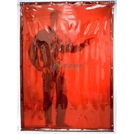 Ochranný svařovací závěs Orange (červený) 140x160cm