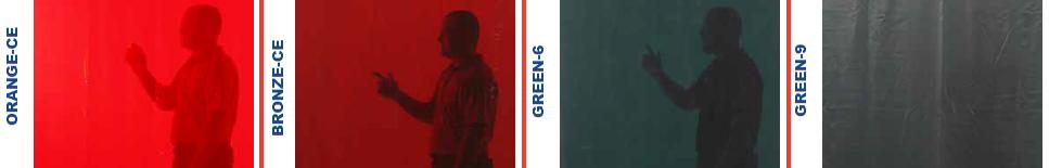 ochranné svařovací závěsy CEPRO barvy