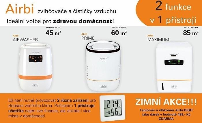 digitální teploměr/vlhkoměr Airbi DIGIT v ceně 499 Kč zdarma